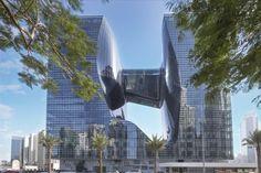"Hotelul ME Dubai al Meliá o ""bijuterie nouă a coroanei"" în hotelurile de lux   evisionturism Architectes Zaha Hadid, Zaha Hadid Architects, Famous Architects, Dubai Hotel, Frank Gehry, Atrium, Soho, All Of The Lights, Thing 1"