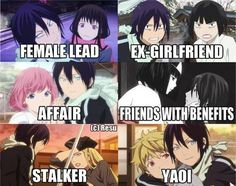 Noragami... Hmmm, strangely, that all makes sense