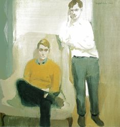 Fairfield Porter Portrait of Ted Carey and Andy Warhol 1960