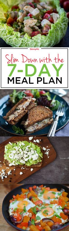 Are you ready to start slimming down and feeling fabulous? Slim down with a 7-day meal plan that helps you shed pounds and inches.