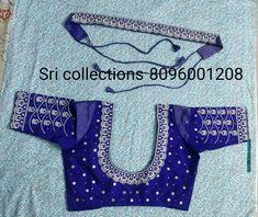 New Saree Blouse Designs, Simple Blouse Designs, Bridal Blouse Designs, Saree Accessories, Kutch Work Designs, Maggam Works, Designer Blouse Patterns, Work Blouse, Simple Necklace