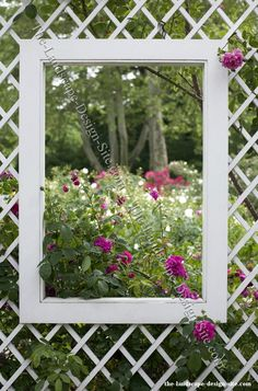 garden ideas - Bing Images....I can inagine this 'window' framed by dark red climbing roses...how fun!