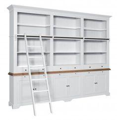 Oxford bibliotheekkast met ladder - Overstock Home