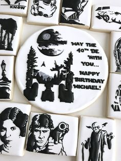 Star Wars cookie cake top