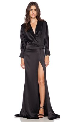 OLCAY GULSEN Maxi Gown in Black | REVOLVE