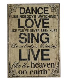 Take a look at this 'Heaven on Earth' Wall Plaque by A Whimsical Home: Décor on #zulily today!