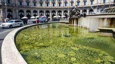 Roma alghe e mucillagine: la fontana di piazza della Repubblica diventa verde #lavoratori #salari #tasse #roma #stipendo #INPS