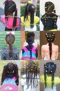 Little Black Girls Hairstyles : Hair Styles For Biracial Girls Lil Girl Hairstyles, Black Kids Hairstyles, Natural Hairstyles For Kids, Kids Braided Hairstyles, My Hairstyle, Teenage Hairstyles, Beautiful Hairstyles, Hairstyle Ideas, Party Hairstyle