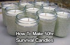 50hr Survival Candles. candles will be one of the best things you could have stocked up on. Regular Candles are cheap but do not last that long.