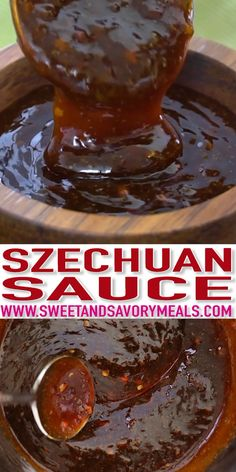 Szechuan Sauce has a spicy, sweet and savory flavor and is super easy to make at home. It is a great dipping sauce that can be also used on noodles, stir-fry, or any other dishes. recipe seasoned Easy Szechuan Sauce Recipe [video] - Sweet and Savory Meals Easy Szechuan Sauce Recipe, Easy Stir Fry Sauce, Spicy Korean Sauce Recipe, Spicy Gravy Recipes, Yakisoba Sauce Recipe, Chicken Stir Fry Sauce, Szechuan Recipes, Healthy Chicken Recipes, Asian Recipes