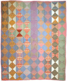 Antique Courthouse Steps quilt. Inspiration for Bee Happy Bee Quilt