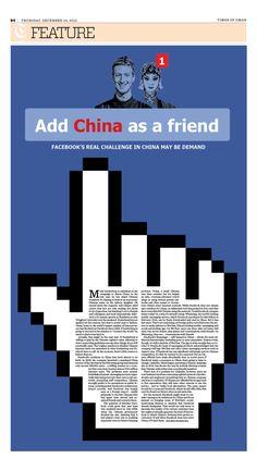 Add China As A Friend Layout Design, Print Design, Logo Design, Graphic Design, Newspaper Layout, Newspaper Design, Editorial Layout, Editorial Design, Cartoon Posters