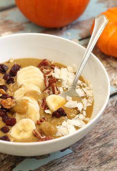 12. Pumpkin Pie Smoothie Bowl #healthy #whole30 #recipes…