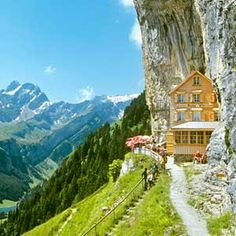 Berggasthaus Aescher, Swiss Alps, Switzerland