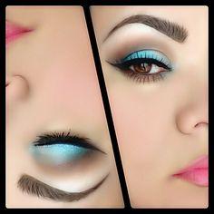 Turquoise cat eyes