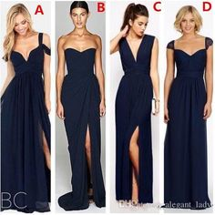 2017 Lace Chiffon Navy Blue Country Boho Beach Bridesmaid Dresses Elegant Cheap Split Wedding Party Guest Junior Brdiesmaid Gowns Overskirt Evening Dress Yousef Aljasmi Occasion Prom Dress Online with $89.15/Piece on Alegant_lady's Store | DHgate.com