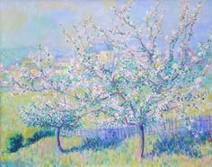 Paintings of Spring: Theodore Earl Butler - Spring Blossoms