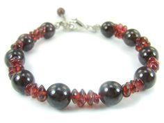 BB1019F Garnet  Natural Crystal Gemstone Findings Bracelet - See more at: http://waggashop.com/wagga-shop-bb1019f-garnet--natural-crystal-gemstone-findings-bracelet