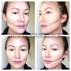 How to contour your face with liquid foundation. contour asian face, how to contour with liquid foundation, contour pictorial, easy makeup, simple makeup, step by step makeup, diy, step by step, asian makeup, korean makeup, makeup artist, mua, how to apply liquid foundation