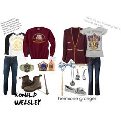 """""""Ron and Hermione"""" by theworldinsidemyhead on Polyvore"""