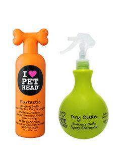 Furtastic Creme Rinse & Dry Clean Waterless Spray Shampoo Set by Pethead at Gilt