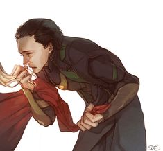 #Loki and #Thor | #Thorki | Beautiful heartbreak by ssbobpul.tumblr.com | This work is licensed under a Creative Commons...