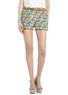 Floral lightweight shorts