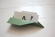 "KL11 ""paper plane"" is a holder for business cards by Kristian Lindhardt Norhave"