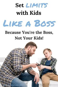 Setting limits for your kids is really important, it will help them know what is expected of them. Here are some tips on how to set limits and boundaries in a healthy way with kids.   Tips for Dads   Tips for Moms   Parenting Tips