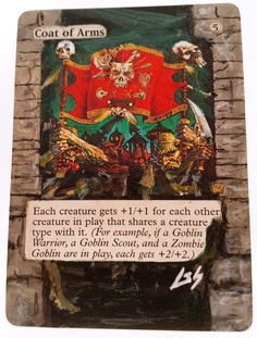 Coat of Arms MTG Magic Altered Art Custom Painted Rare Hot Sexy Pimp OOAK OOP #WizardsoftheCoast
