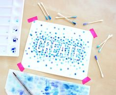 This polka dot project is a perfect watercolor project for beginners or even kids.