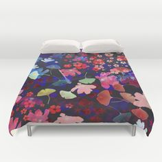 Blossoms and dragonfly  Duvet Cover