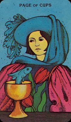 Page of Cups,  Morgan-Greer Tarot