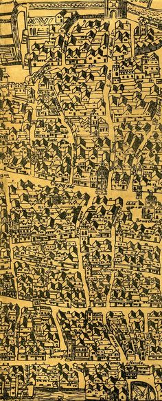 Detail. London And Westminster Map c1563