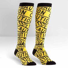 Caution Tape Women's Knee High Sock