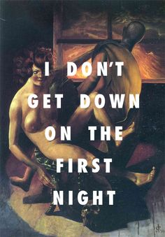 flyartproductions: The melancholic first night Melancholie, Otto Dix / The First Night, Monica