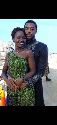 King T'Challa / Black Panther (Chadwick Boseman) And Nakia Lupita Nyong'o) : Wakanda's First Couple