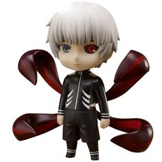 From Empty comes this new Chara Forme chibi style statue of Tokyo Ghoul's Kaneki Ken in his Awakened form! Kaneki Ken, the protagonist of Tokyo Ghoul, is a 19 year old university freshman. After an operation where ghoul organs were transplented into his b Ken Anime, Manga Anime, Anime Cosplay, Kaneki Chibi, Figurine Anime, Ken Kaneki Tokyo Ghoul, Popular Manga, Tokyo Otaku Mode, Anime Toys