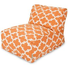 Enjoy the convenience and comfort of a bean bag chair without sacrificing style by adding this Majestic Home Goods lounger to your home. A modern silhouette gives this piece a much more contemporary a