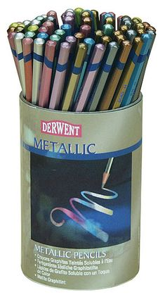 Derwent Studio Metallic Watercolor Pencil Sets - JerrysArtarama.com