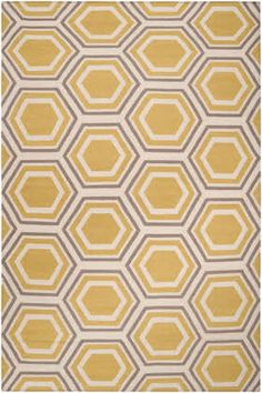 Surya Fallon Honeycomb Yellow / Cream / Gray (FAL-1036) Area Rugs