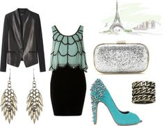 Night on the town, created by alexa104 on Polyvore