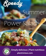 Speedy Summer Hemp Power Salad-( Oh She Glows) Power Salad, Nutritious Meals, Plant Based Recipes, Hemp, Dressings, Whole Food Recipes, Dairy Free, Main Dishes, Clean Eating