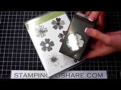Stampin' Up Flower Shop stamp and Pansy Punch - lining up to punch correctly - only one way!