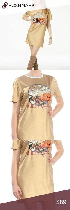 7ec6c12e19938f 1839 Gold Tiger Graphic T Shirt Short Sleeve Dress Brand: GUESS Neckline:  Crew Neck