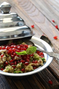 Bulgur Wheat Salad with Pomegranate + Walnut by An Edible Mosaic. The first time I made this salad was last summer for a cookout at my parents' house before Mike and I left for Kuwait. I wanted to bring a hearty salad, and I was trying to clean out my pantry and fridge when I found a bag of bulgur wheat in the pantry and a bottle of pomegranate molasses in the fridge. For some reason I thought combining the two in one dish was the best idea ever.