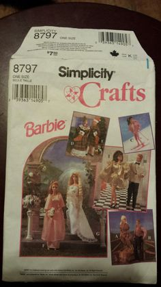 Hey, I found this really awesome Etsy listing at https://www.etsy.com/ca/listing/264722646/vintage-uncut-simplicity-barbie-wardrobe