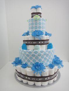 diaper cakes | Boy-Diaper-Cakes