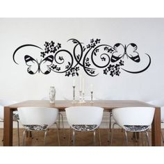 "Style and Apply Butterfly Branch Wall Decal Color: Black, Size: 22"" H x 79"" W"