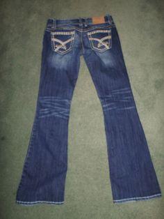 Women's Blue AMETHYST Stretch Stitched Pockets Fashion Jeans, Size 5 X 30, GUC! #AMETHYSTStretch #StretchFashionHeavyStitchedPocketJeans